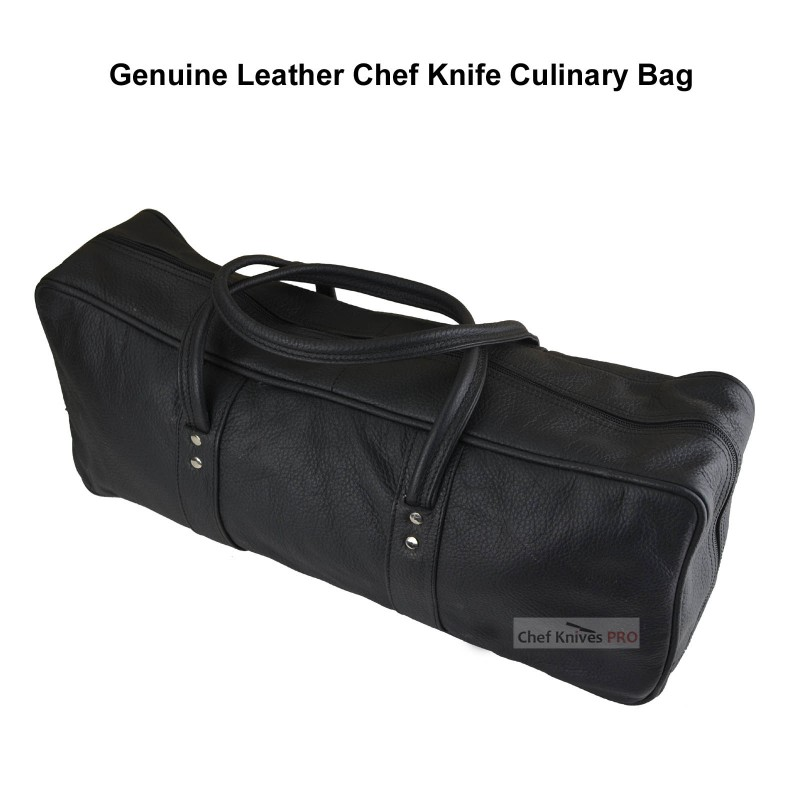 CKP Genuine Natural Leather Knife Culinary Black Bag