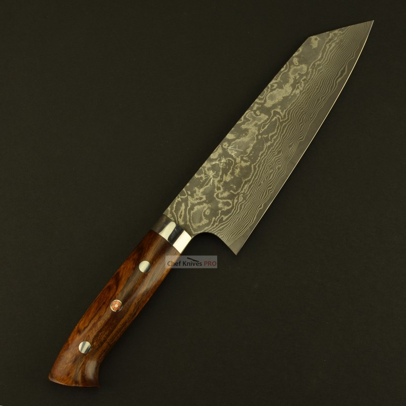 Takeshi Saji R2 Powder steel Damascus Bunka Knife Ironwood Handle with wooden gift box