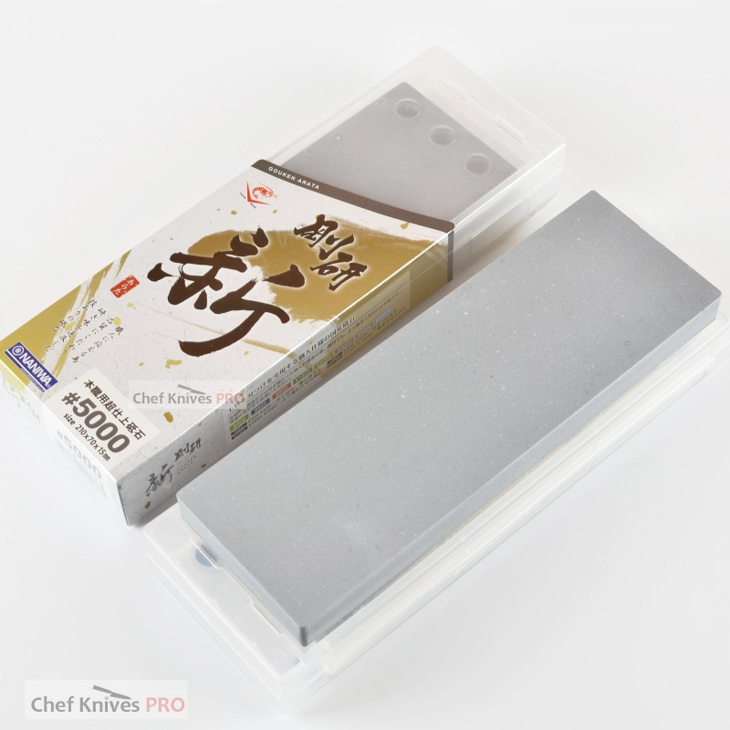 Naniwa Gouken Arata Grit # 5000 whetstone with base