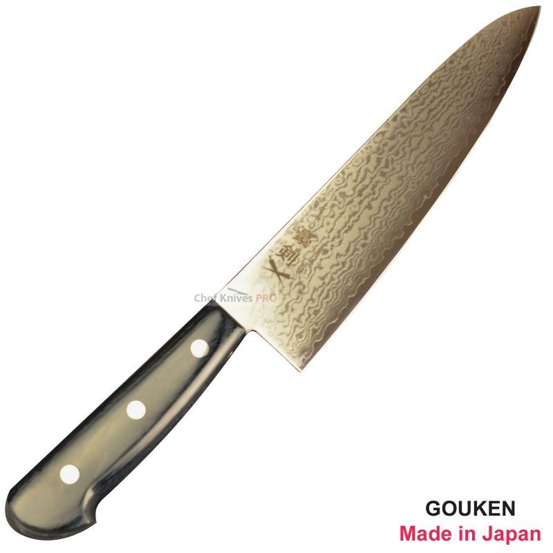 GOUKEN Nickel Damascus VG10 Chef Knife 210mm Kitchen Knives made in Japan