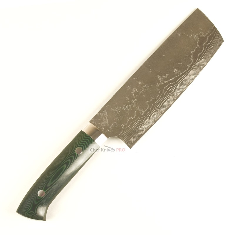 Takeshi Saji Vg10 Nakiri Knife Micarta handle