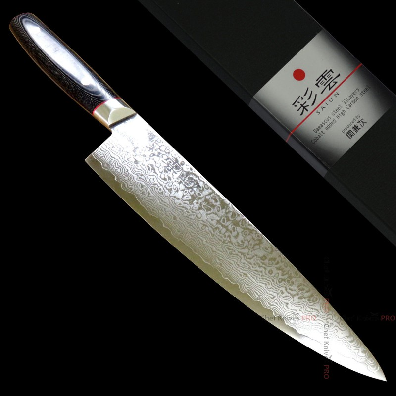 Saiun 彩雲 33 Layers Damascus VG10 Chef Knife 230 mm